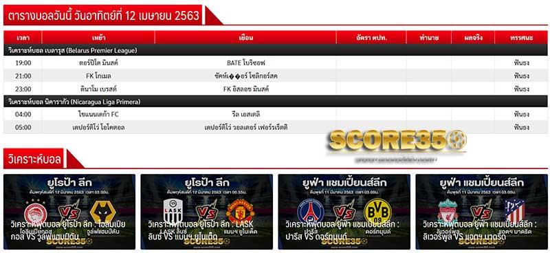 ไฮไลท์ฟุตบอล Score350